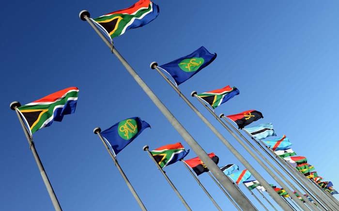 SADC flags in Pretoria. Picture: GCIS.