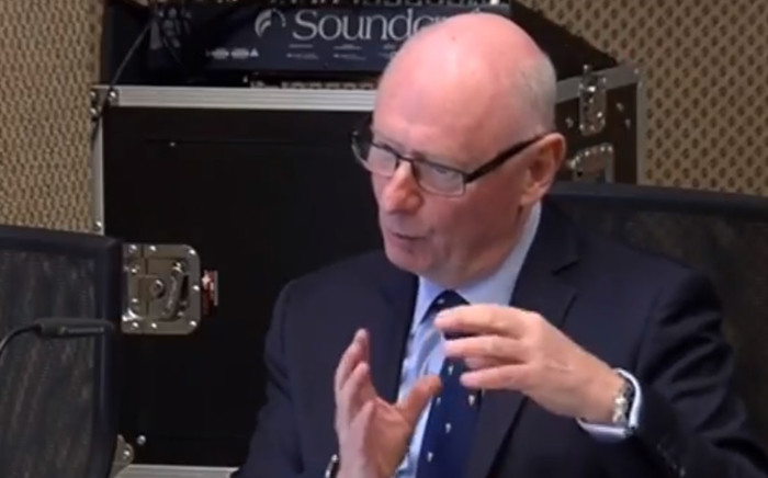 A screengrab of consultancy firm Gartner's managing vice president, Michael Lithgow, testifying at the Nugent Commission of Inquiry in Pretoria on 23 October. Picture: YouTube.