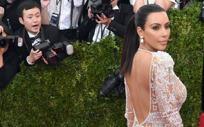 FILE: Kim Kardashian at a red carpet event. Picture: AFP.