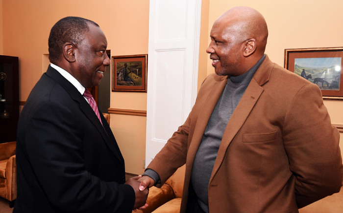 Deputy President Cyril Ramaphosa pays King Letsie III a courtesy call at Lesotho Royal in Maseru, Lesotho on 1 July 2015. Picture: GCIS.