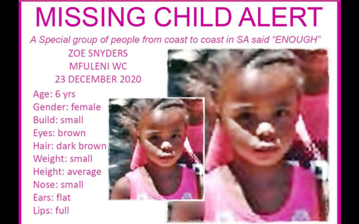 Missing Zoe Snyders. Picture: Pink Ladies.