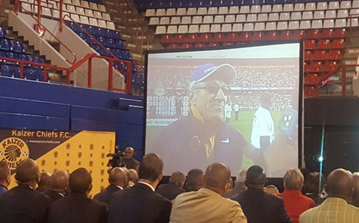Dignitaries, footballers and fans gather at the Ellis Park Arena to remember former Bafana Bafana Coach Ted Dumitru. Picture: Morena Mothupi/EWN