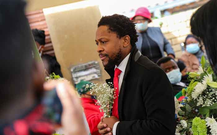 EFF MP Mbuyiseni Ndlozi at the funeral of murdered Tshegofatso Pule in Meadowlands, Soweto, on 11 June 2020. Picture: Kayleen Morgan/EWN