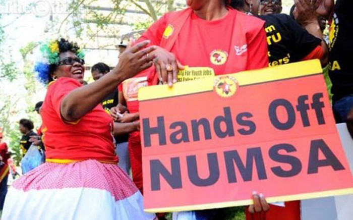 FILE. Supporters of Numsa. Picture: @Radio702 via Twitter.