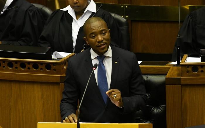 Democratic Alliance leader Mmusi Maimane at the Sona Debate on 25 June 2019. Picture: @ParliamentofRSA/Twitter.