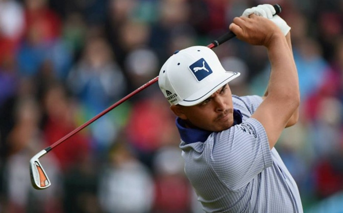American golfer Rickie Fowler was a picture of concentration as he charged up the leaderboard during the 3rd Round at the 2014 Open Championship. Picture: Official Open Championship Facebook Page.