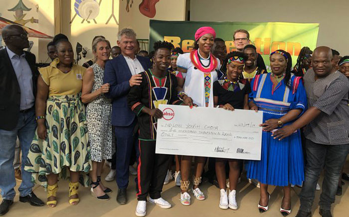 Limpopo MEC of Arts and Culture MorakaThandi gave the Ndlovu Youth Choir R1 Million. Picture: Twitter @ChoirAfrica.