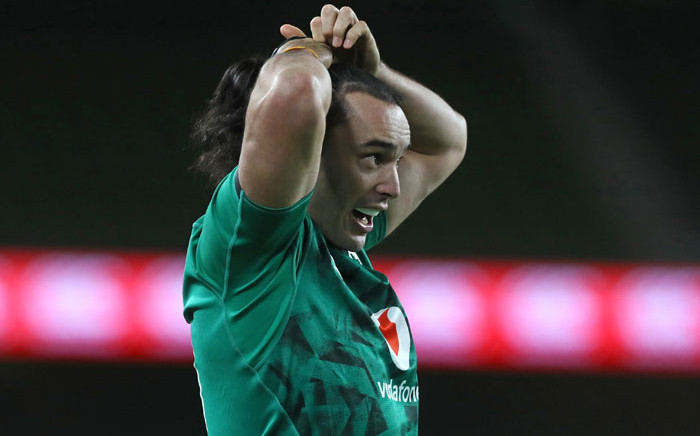 Ireland's wing James Lowe fixes his hair during the Autumn Nations Cup international rugby union match between Ireland and Wales at Aviva Stadium in Dublin, on 13 November 2020. Picture: AFP