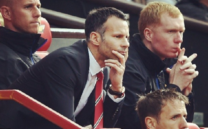 FILE: Former Manchester United interim manager Ryan Giggs (Centre, L) with his fellow 'Class of 92' coaching staff. Picture: Facebook.com