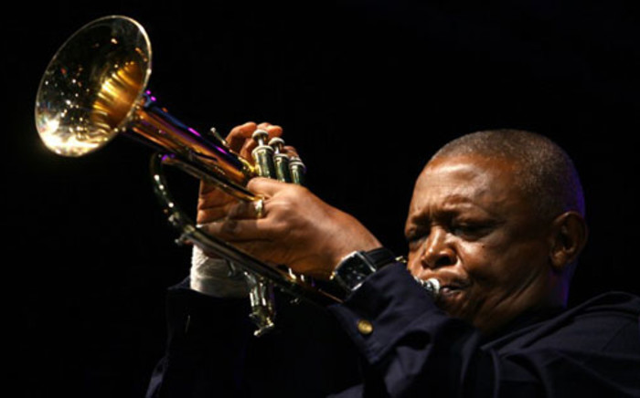 SA jazz great Hugh Masekela performed a mournful solo of one of Miriam Makeba songs in Johannesburg on November 15, 2008. Picture: AFP