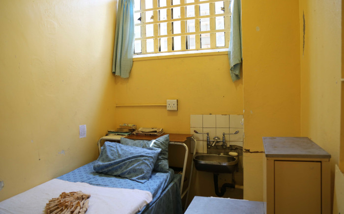 The cell where Oscar Pistorius spent almost a year.  Picture: Christa Eybers/EWN