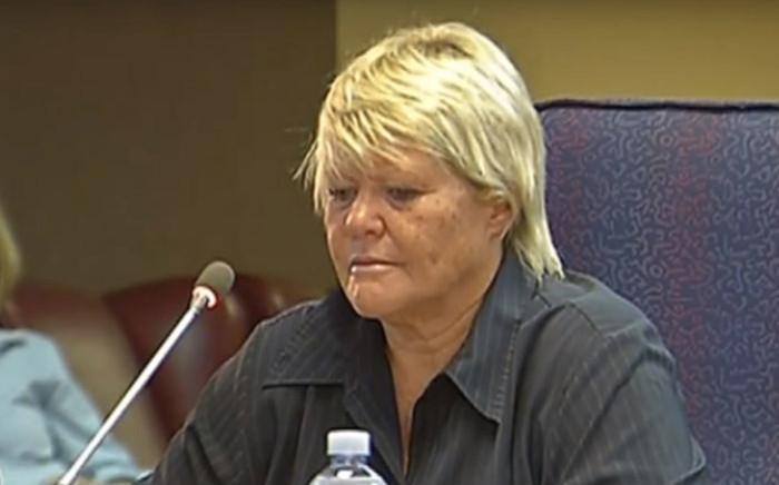A screengrab of former state prosecutor Glynnis Breytenbach testifying at the Mokgoro Inquiry on 29 January 2019.
