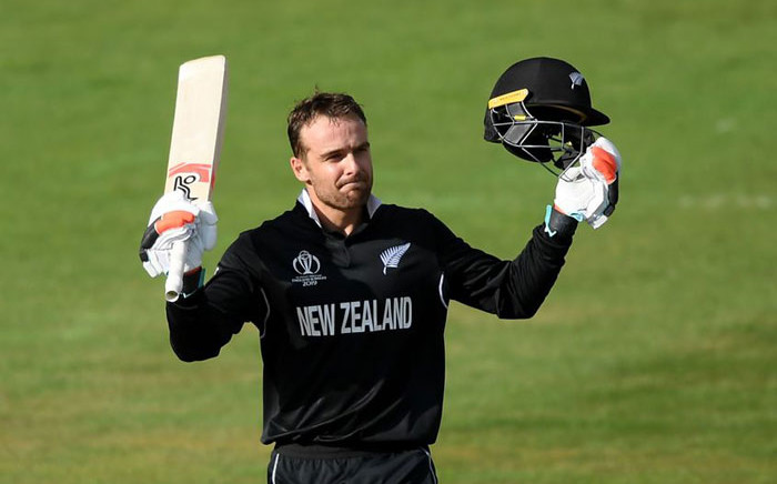 Tom Blundell top-scored for New Zealand with 106 in their CWC19 warm-up match against the Windies on 28 May. Picture: www.icc-cricket.com/media-zone/news