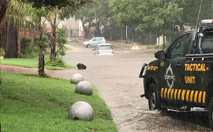 FILE: Flooding in parts of Johannesburg. Picture: iWitness.