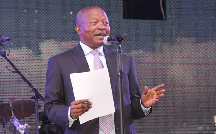 Deputy President David Mabuza addressing the Mpumalanga Show at Mbombela Stadium on 31 August 2019. Picture: @DDMabuza/Twitter.