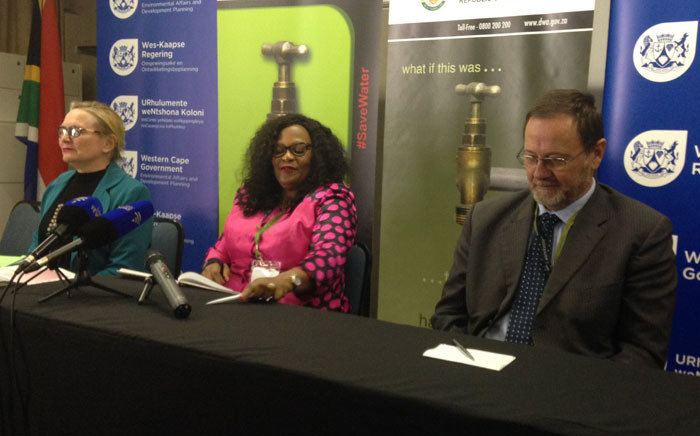 Nomvula Mokonyane calls on delegates to think about solutions to the current drought situation. Picture: Lauren Isaacs/EWN.