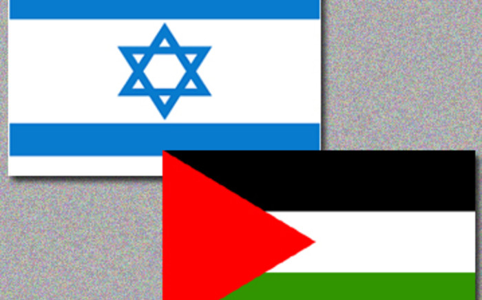 Israel and Palestine flags. Picture: AFP