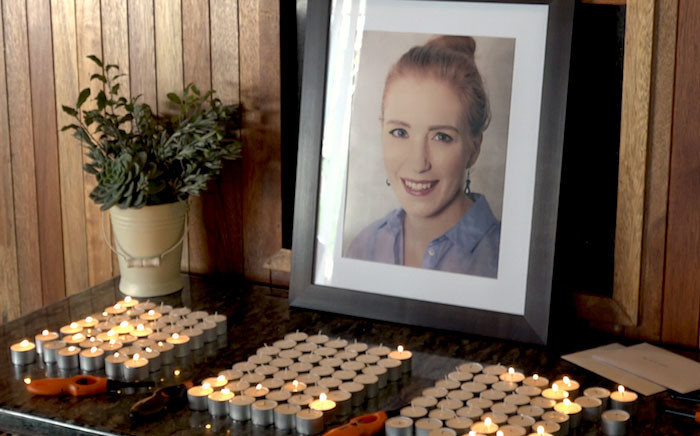 The memorial for late senior radio journalist Suna Venter who was found dead in her Fairlands home last week. Picture: Louise McAuliffe/EWN.