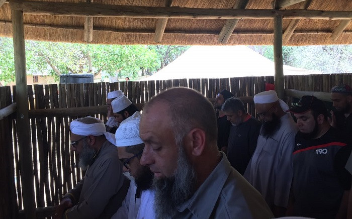 Muslims perform the compulsory afternoon prayer in the newly launched prayer facility at the Skukuza Camp on 3 December 2018. Picture: Ahmed Kajee/EWN