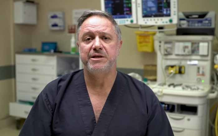 A screengrab of Wits surgeon doctor Jean Botha. Picture: YouTube.