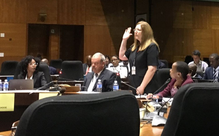 Acting PIC secretary Wilna Louw gives testimony at the commission of inquiry into the Public Investment Corporation (PIC) on Monday, 21 January 2018. Picture: EWN