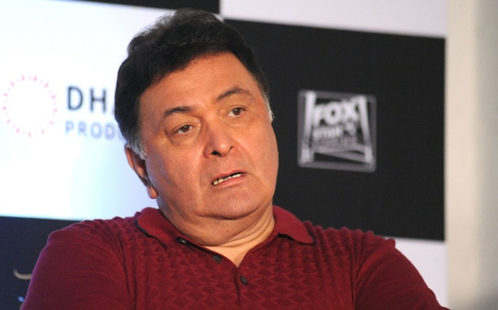 Indian Bollywood actor Rishi Kapoor addresses a press conference for Hindi film 'Kapoor & Sons' in Mumbai on 25 March 2016. Picture: AFP.