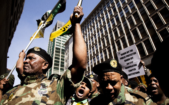 FILE: Members of the Umkhonto we Sizwe Military Veterans Association march to Luthuli House. Picture: EWN