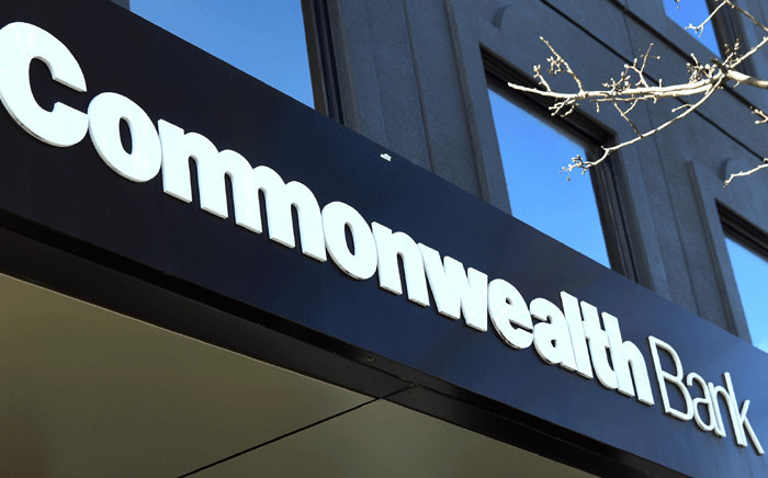 The sign of the Commonwealth Bank is seen at one of its branches in Melbourne on 8 August 2018. Picture: AFP.