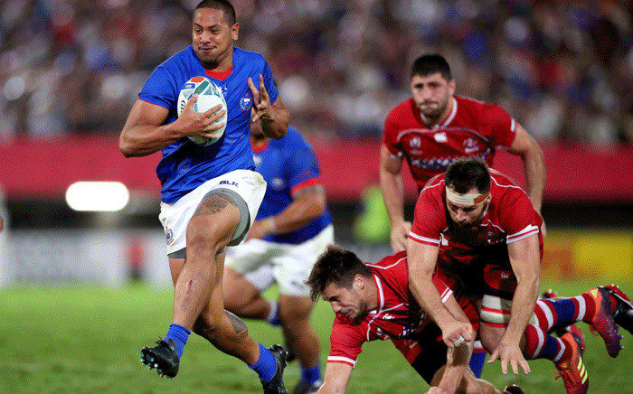 Russia vs Samoa during the 2019 Rugby World Cup. Picture: @rugbyworldcup/Twitter.
