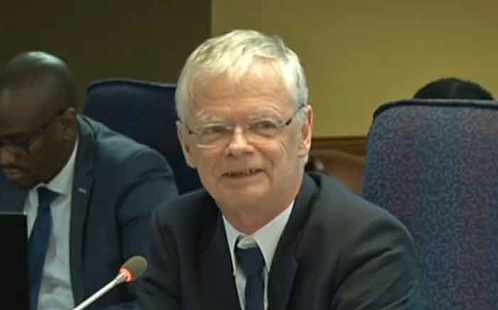 A screengrab of deputy prosecutions boss Willie Hofmeyr testifying at the Mokgoro Inquiry.