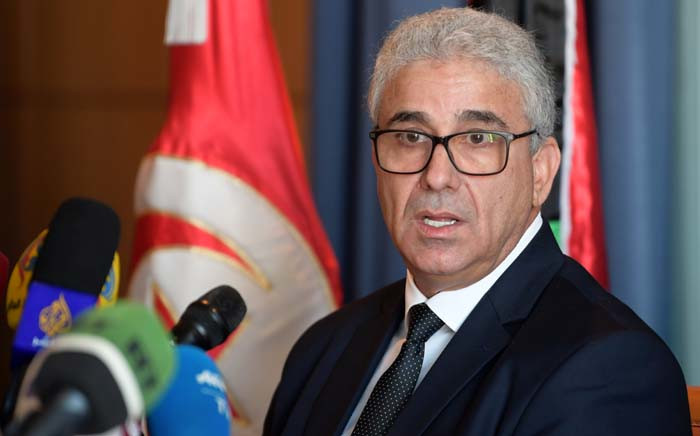 Fathi Bashagha, Libya's UN-recognised and Tripoli-based Government of National Accord (GNA) Interior Minister, gives a press conference in the Tunisian capital Tunis on 26 December 2019. Picture: AFP.