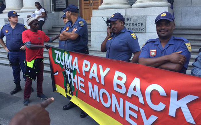 """FILE: EFF intends taking Jacob Zuma and his entire Cabinet to court for """"collectively"""" breaching the Constitution. Picture: Xolani Koyana/EWN."""