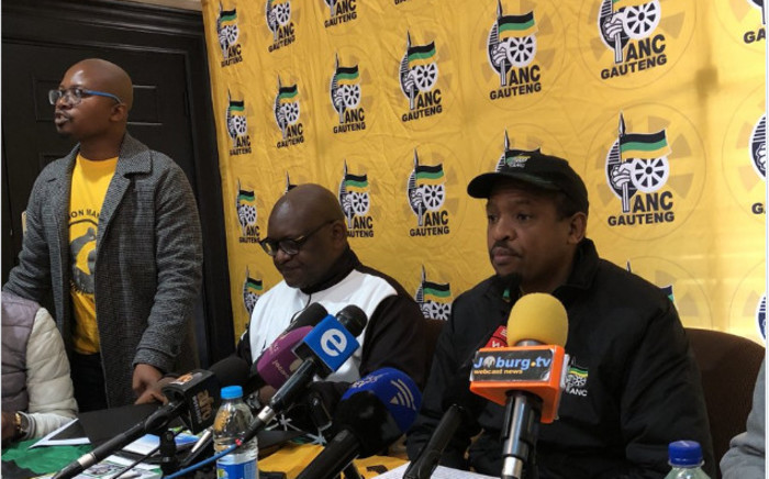 FILE: The leadership of the ANC in Gauteng. Picture: EWN