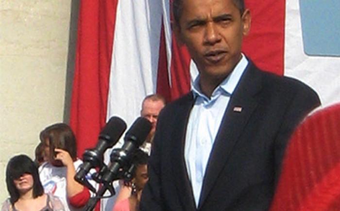 United States President Barack Obama. Picture: Mandy Wiener/Eyewitness News