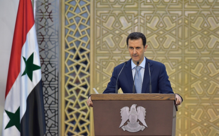 FILE: Syrian president Bashar al-Assad delivering a speech in the capital Damascus. Picture: AFP