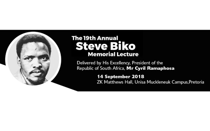 The 19th annual Steve Biko Memorial Lecture. Picture: @SteveBikoFoundation/Twitter