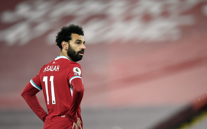 Liverpool midfielder Mohamed Salah during the English Premier League football match between Liverpool and Wolverhampton Wanderers at Anfield in Liverpool, north west England on 6 December 2020. Picture: AFP
