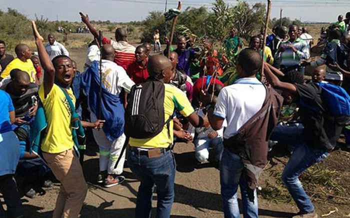 FILE: Lonmin miners take part in an illegal strike on 14 May, 2013. Picture: Lesego Ngobeni/EWN