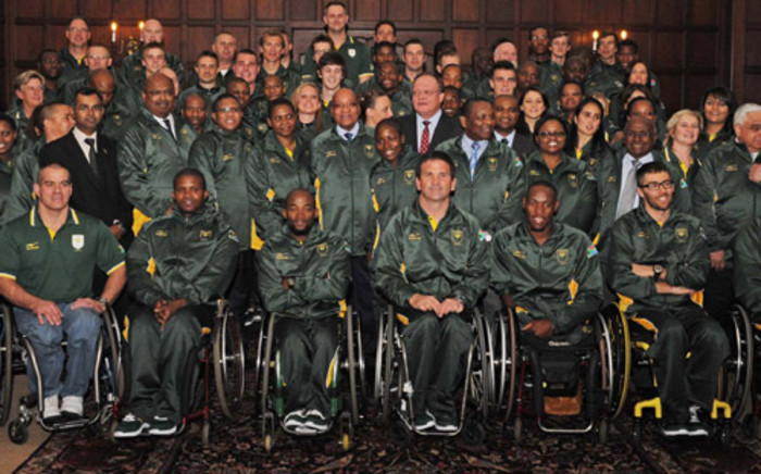 President Jacob Zuma with members of the Team SA for the Olympics & Paralympics. Picture: GCIS.