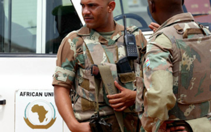 File picture of SA troops in a foreign country. Picture: Werner Beukes/Sapa.