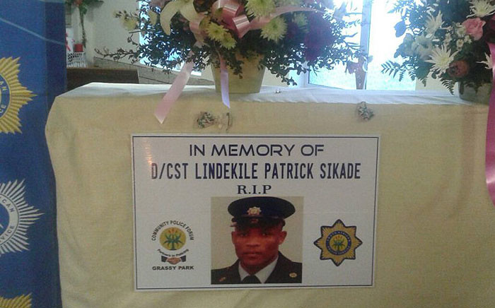 FILE: The South African Police Service held a memorial service after constable Lindekile Sikade was murdered in April. Picture: @SAPoliceService via Twitter.