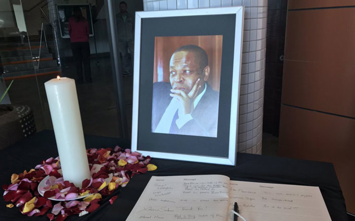 A picture of late goverment spokesperson Ronnie Mamoepa during a memorial service in Pretoria on 26 July 2017. Picture: Masego Rahlaga/EWN