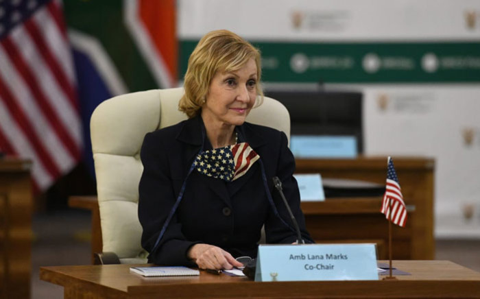 Lana Marks, the US Ambassador to South Africa, attends the 11th South Africa – United States Annual Bilateral Forum on 9 September 2020. Picture: @DIRCO_ZA/Twitter