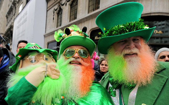 Parade goers dress up in customs and colored beards at the 251st Annual Saint Patrick's Day Parade in New York, USA, 16 March 2013. Picture: EPA/PETER FOLEY
