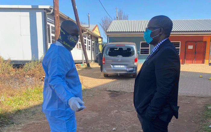FILE: MEC for Education in Gauteng Panyaza Lesufi visited the Buyani Primary School in Finetown on 18 June 2021 after the principal was shot and killed on the school premises. Picture: Gauteng Department of Education. Picture: Supplied.