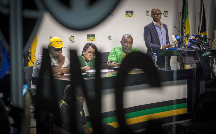 FILE: Members of the ANC's NEC address the press. Picture: Thomas Holder/EWN