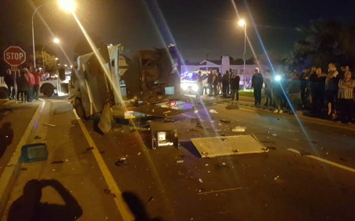 Three people were injured in a cash-in-transit heist in Kraaifontein, Cape Town on 27 July. Picture: ER24.