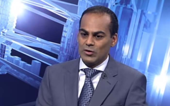 A screengrab of VBS Mutual Bank curator Anoosh Rooplal. Picture: YouTube.