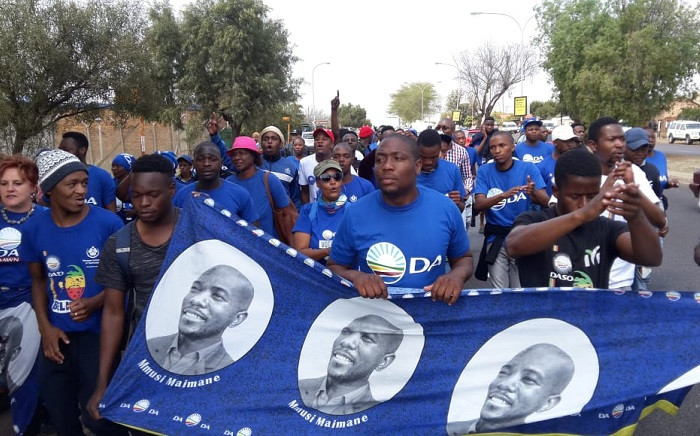 DA Youth protest the killing of a TUT student. Picture: @DAYouth/Twitter