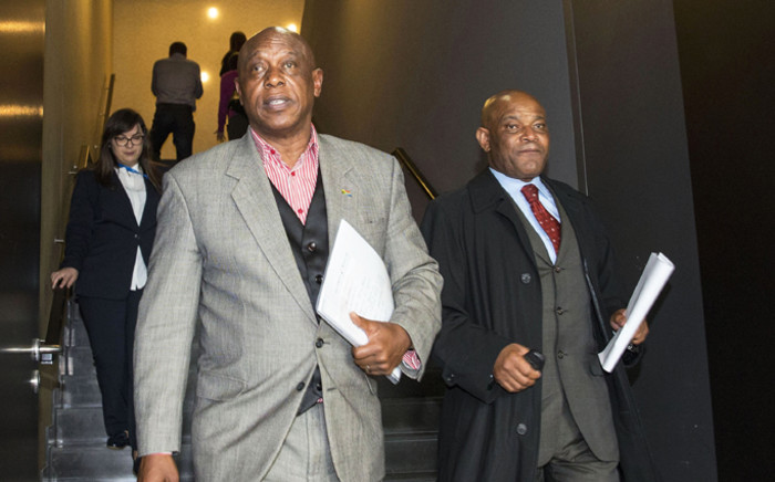 Tokyo Sexwale leaves the CONCACAF Extraordinary Congress at the Renaissance hotel in Zurich, Switzerland, 25 February 2016. Picture: EPA/Patrick B. Kraemer.
